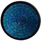 Simandra Mosaikschale Tonschale Glasschale Dekoschale Mosaik Kunsthandwerk Glassteine Deko Rund M Color Blau