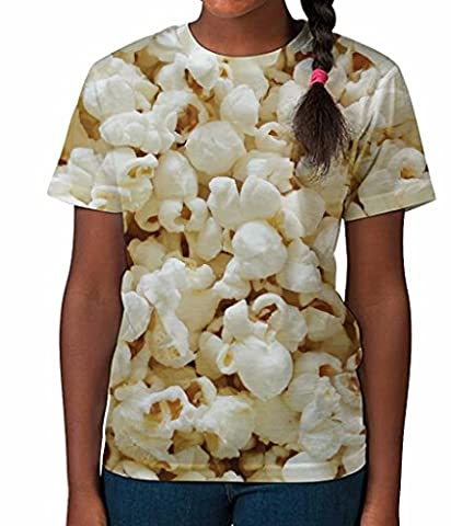 Kid's T Shirt All Over Print Popcorn Girls Summer Clothes