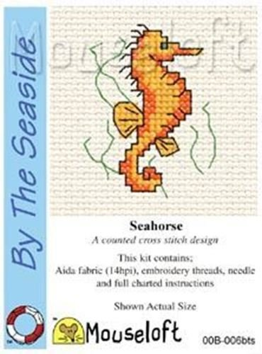 Mouseloft Mini Cross Stitch Kit - Seahorse, By the Seaside Collection -