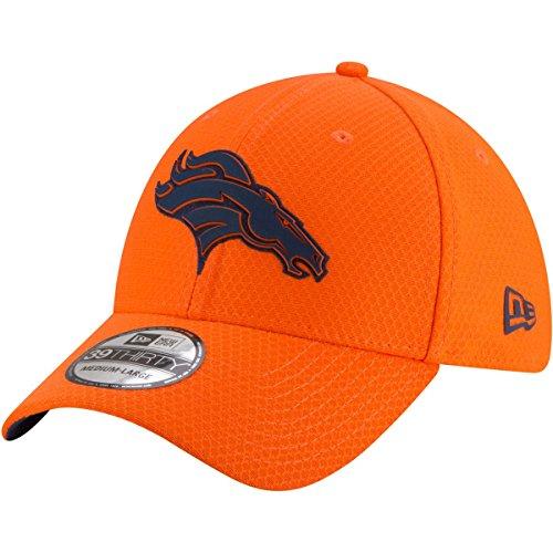 New Era Denver Broncos 39thirty Stretch Cap - NFL 2018 - Training OTC - Orange - S-M (6 3/8-7 1/4)