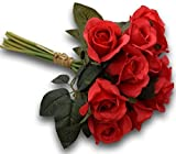 #8: Fourwalls Artificial Rose Bunch (12 Flowers, Red)