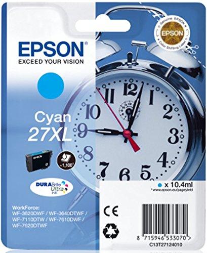 Epson Original T2712 Tinte, Wecker, wisch- und wasserfeste XL (Singlepack) cyan