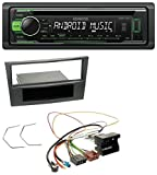 Kenwood KDC-110UG USB CD Aux 1DIN MP3 Autoradio für Opel Antara Astra H Zafira B ab 2005 Charcoal