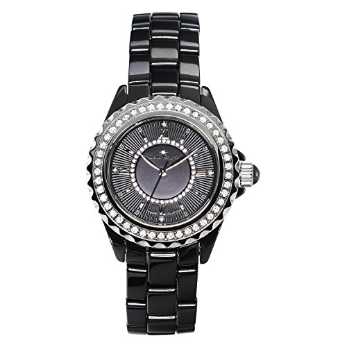 Stella Maris Damen-Armbanduhr Analog Quarz Premium Keramik Diamanten - STM15E1