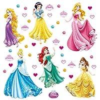 Princess Disney Wall Sticker, Film, Multi-Colour, 30 x 30 cm