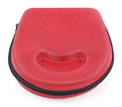 Rote Tasche | Etui | Hard Case | Schutzhülle, robustes Ethylenvinylacetat (EVA Material), mit Klettverschluss und Zusatzfach für AfterShokz Trekz Titanium | AfterShokz Bluez 25 (IFA 2016) Kopfhörer