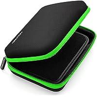 deleyCON Navi Tasche / Navi Case / Tasche für Navigationsgeräte - 6 Zoll & 6,2 Zoll (17x12x4,5cm) - Robust & Stoßsicher - 1 Innenfach - Schwarz/Grün