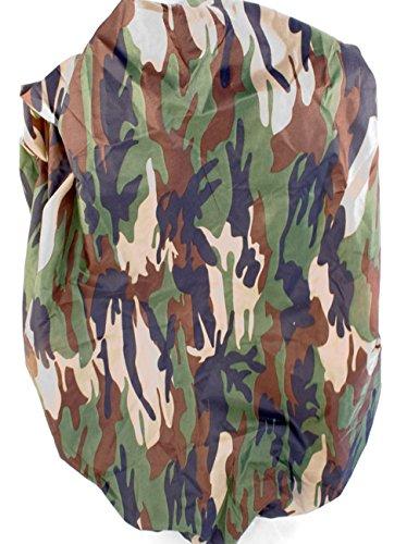 Outdoor Saxx® - Camouflage Rucksack-Überzug, Regen-Schutz Regen-Hülle Tarn-Fleck Camouflage, mit Gummi-Zug universell passend für Rucksäcke bis 60cm Länge