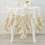 fwerq Spitze Tischdecke, im europäischen Stil Spitzendeckchen rund, TV-Schrank Abdeckung Tuch Tuch Tuch Nachttisch, Tischdecke Stoff Tischdecke - Eine 40 x 200 cm (16 x 79 Zoll)
