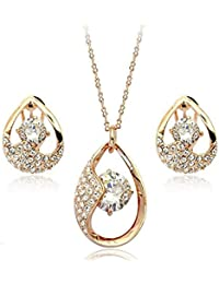 Shining Diva High Quality 18K Gold Plated Pendant Set