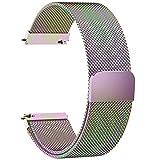Fullmosa 6 Farben Für Milanese Uhrenarmband, Milanese Smart Watch Armand Ersatzband mit Edelstahl Magnet-Verschluss Watch Replacement für 24mm Bunt