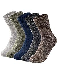 VBIGER 5 pares Calcetines de invierno Caliente Mujer Calcetines de punto Térmicos