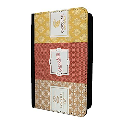 Chocolat Wrapper Motif passeport Coque – S126