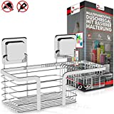 Shower Shelf Shower Shelf without Drilling Stainless Steel + Shaving Hanger Rust-Proof Multifunctional Bathroom Shelf Shower Caddy Shower Caddy Shower Basket with Magic Sticker
