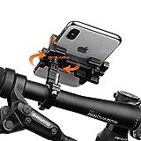 Vogek Alloy Fahrrad Handyhalter, 360°Rotation Handyhalterung Fahrrad Motorrad Handy Halterung Lenkerhalter für iPhone X/8/8 Plus/7/7 Plus, Samsung Galaxy & Allen Handy mit 4,0-6,5 Zoll