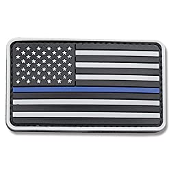 5ive Star Gear US Flag Morale Patch with Blue Stripe Grey/Blue One Size