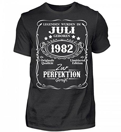Shirtee Hochwertiges Herren Organic Shirt - Legenden Juli Geburtstag Geschenk 1982 (T-shirt 1982)