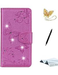TOUCASA Coque Redmi Note 5 Pro,Housse Redmi Note 5 Pro, Coque Cuir PU Portefeuille Etui de Protection pour Redmi Note 5 Pro-Coque Violet
