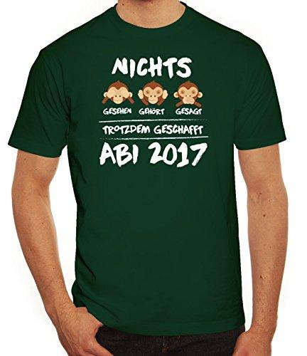 Abschluss Abitur Herren T-Shirt mit Abi 2017 - Nichts gesehen, gehört, gesagt Dunkelgrün