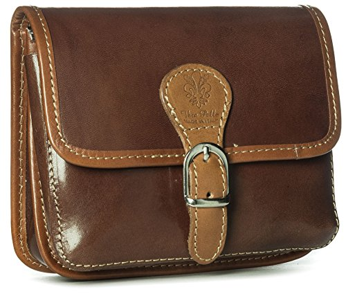 Big Handbag Shop, Borsa a tracolla donna One Marrone (Dark Tan-Tan Trim)