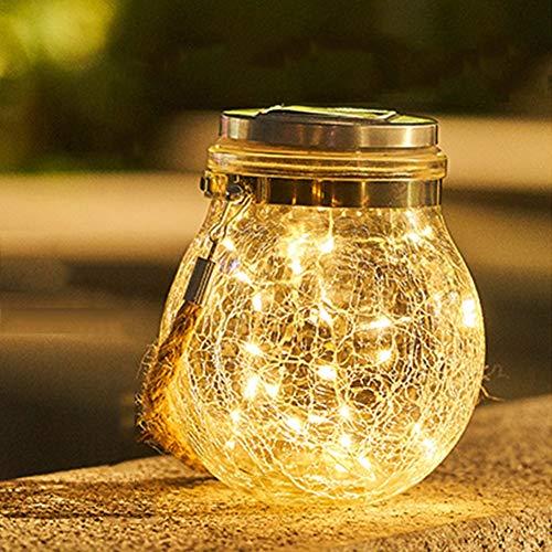 Solar Mason Jar Licht Jar Feenlicht, Wasserdichte Glasgläser Garten Hängeleuchten, LED Weihnachtsbeleuchtung Lichterkette,LED String Licht für Party, Weihnachtsferien, Hochzeitsdekoration,Gelb (Mason Jar-schmetterling)