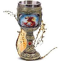 """Cáliz """"Flaming Dragon"""" - Dragón de Fuego - Decoración medieval fantasía fantástico"""