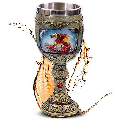 mtb more energy Kelch Flaming Dragon - Brennender Drache - Deko Fantasy