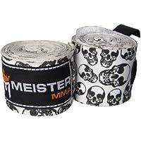 """Meister 457,2 cm algodón elástico vendas para MMA y boxeo (par) Varios colores Death Skulls Talla:180"""" x 2"""" (Pair)"""