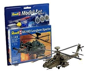 Revell Modellbausatz 64046  - Set de modelo AH-64D Longbow Apache MaÃstab 1:144 importado de Alemania