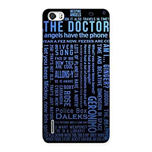 Cute Angle Doc Multicolor Back Case Cover for Honor 6