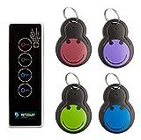 KEY BEEPER - Der schnelle Weg Dinge zu finden! Dieser Funk Schlüsselfinder ist akustisch 75Db++ laut: key-finder - mit Fernbedienung 1 Sender mit 4 Empfänger und extra Batterien
