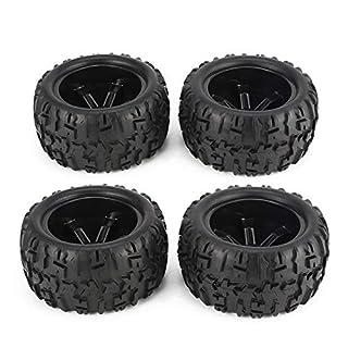 Newgreenca 4Pcs 150mm Radfelge und Reifen für 1/8 Monster Truck Racing RC Autozubehör