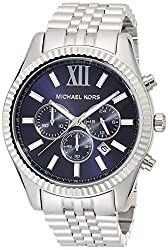 Michael Kors Mens Chronograph Lexington Stainless Steel Bracelet Watch 45mm MK8280