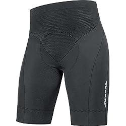 Gore BIKE WEAR Mallas cortas para Hombre, Badana, Súper ligeras, Transpirables, Selected Fabrics, OXYGEN 3 0 Tights short+, Talla L, Negro, TTSOXY990005