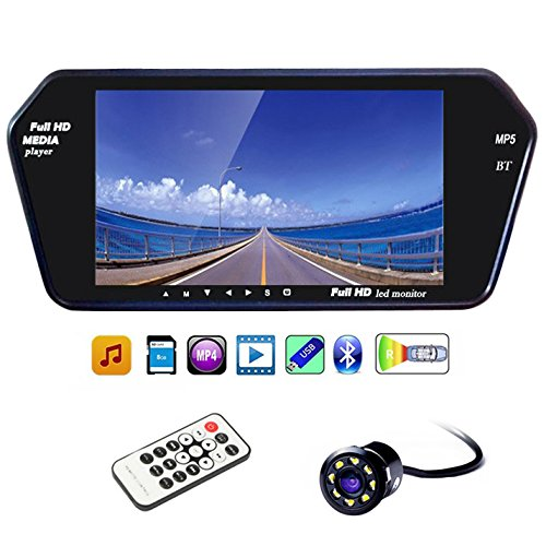 Speedwav 7 Inch Full HD LED Screen with Bluetooth and Touch Panel+8LED Reverse Camera-Maruti Alto