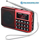 Best Am Radios - PRUNUS™ Portable SW / FM / MW MP3 Review