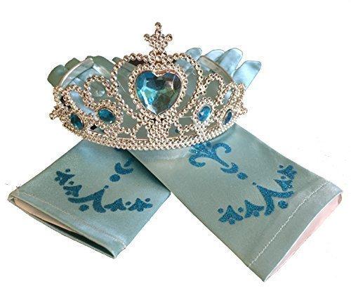 Kostüm Brave Mädchen - LadyMYP Mädchen Karneval Kostüm-Eiskönigin ELSA Fasching Krone und Handschuhe (Krone und Handschuhe)