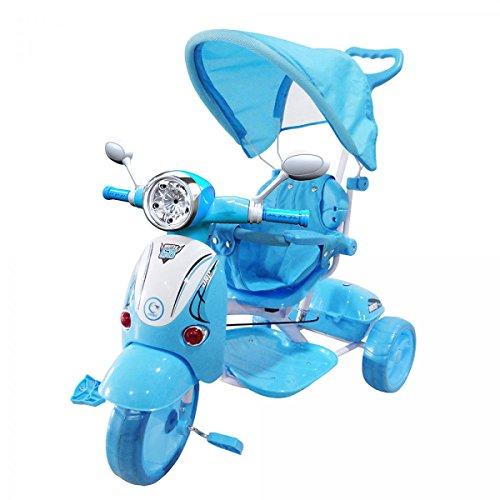 Moto Triciclo a Spinta con Pedali Trico Special BLU Per Bambini BICICLETTA