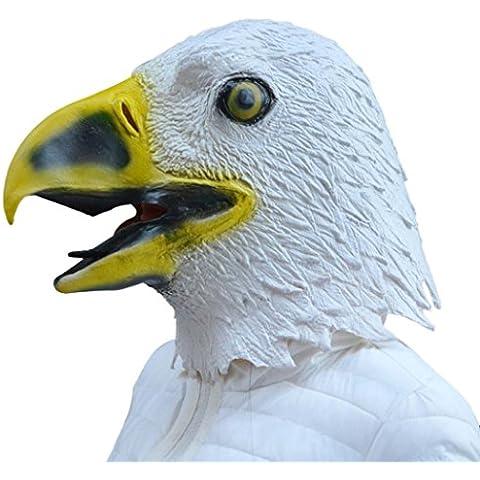 Máscaras, Oyedens Águila Máscara De Látex De Halloween Prop Traje Animal