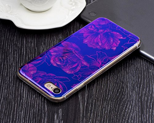 Für iPhone 6 Plus/iPhone 6S Plus Hülle,iPhone 6 Plus/iPhone 6S Plus (5,5 Zoll) Silikon Hülle,Mo-Beauty® Klare Ultradünne Silikon Gel Schutzhülle Durchsichtig,Bunte Blumen Malerei Painted Muster Transp I