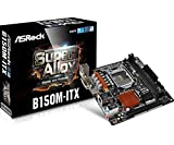 Asrock B150M-ITX Scheda Madre, Nero