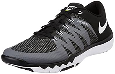 Nike Men's Free Trainer 5.0 V6 Black,White,Dark Grey,Volt  Outdoor Multisport Training Shoes -6 UK/India (40 EU)(7 US)