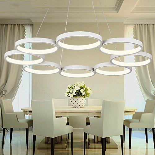 Suspension LED suspendue, 8Ring, Luminosité Dimmable