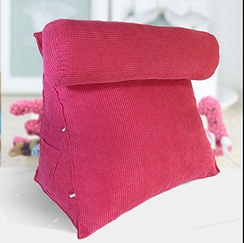 lhl-Standard-Füllung Kissen Triangle Kissen Bett Rückenpolster Bürostuhl Kissen Taille Kissen Kissenpolster waschbar Bettwäsche/Sofa/Lendenwirbelkissen (größe : 55 * 55cm)