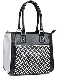 Kleio Dual Color Formal Satchel Hand Bag For Women