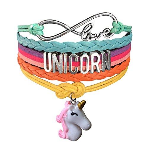 Pulsera de unicornio hecha a mano de Doctor Unicornio, joyería de arcoíris con infinito amor, 14 estilos