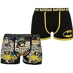 Character - Bóxers - para hombre Negro Batman 2 Pack Boxers Small