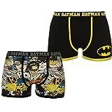 Character Herren 2er Pack Boxershorts Flatlocknähte Motiv Batman L