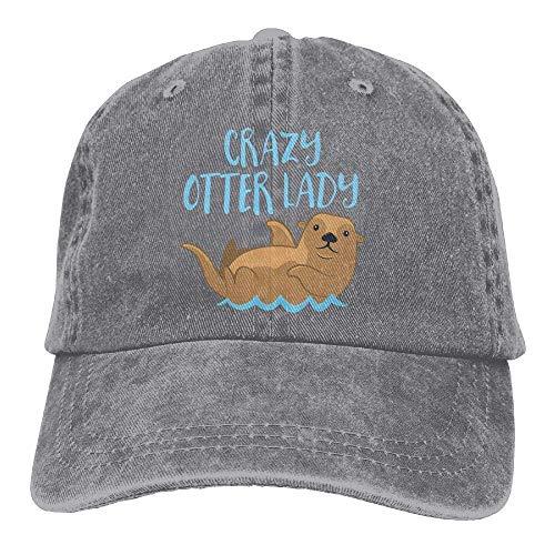 Iowa Mädchen (Wdskbg Men&Women Adjustable Cotton Denim Baseball Kappen Crazy Otter Lady Trucker Cap Multicolor81)