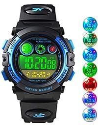Relojes de Pulsera para niños, Reloj Digital a Prueba para niños a 50 m con